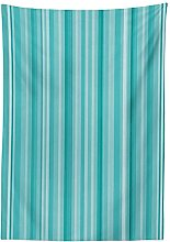Yeuss Aqua Tablecloth by, Abstract Ocean Inspired