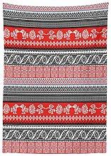 Yeuss Aztec Tablecloth,Ancient Bird Motifs