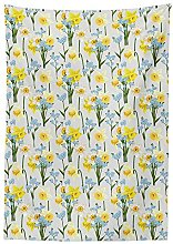 Yeuss Daffodil Decor Tablecloth, Forget Me Not