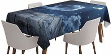 Yeuss Dark Blue Tablecloth Table Covers,Vivid