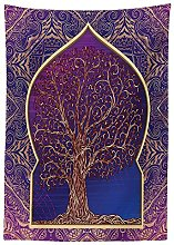 Yeuss Ethnic Tablecloth by, Tree with Curved