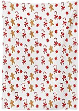 Yeuss Gingerbread Man Tablecloth, Candy Cane
