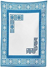 Yeuss Greek Key Tablecloth, Frame with Traditional