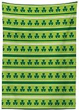 Yeuss Green Tablecloth, Traditional Irish Pattern