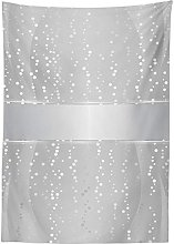 Yeuss Grey Tablecloth by, Vertical Wavy Lines with