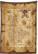 Yeuss Island Map Decor Tablecloth by, Super