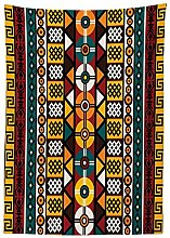 Yeuss Kente Pattern Tablecloth by, Vertical