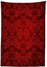 Yeuss Maroon Tablecloth,Classical Ancient Nature