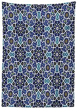 Yeuss Moroccan Outdoor Tablecloth,Eastern Persian