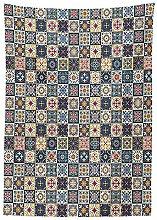 Yeuss Moroccan Tablecloth, Portuguese Azulejo