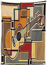 Yeuss Music Decor Tablecloth, Funky Fractal