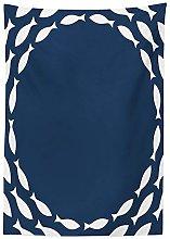 Yeuss Navy Blue Decor Tablecloth, Ocean Navy
