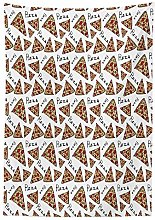 Yeuss Pizza Outdoor Tablecloth,Pattern in Hand
