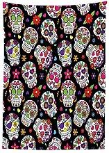 Yeuss Sugar Skull Decor Tablecloth, Festive