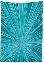 Yeuss Teal Decor Tablecloth by, Abstract Vortex
