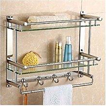 YF-SURINA 2 Tiers Glass Shelf and Stainless Steel