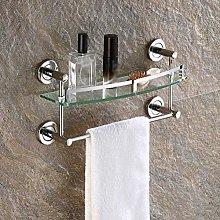 YF-SURINA Bathroom Glass Shelves, Shower Caddy