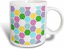 YF-SURINA Mug Colorful Honeycomb Pattern Modern