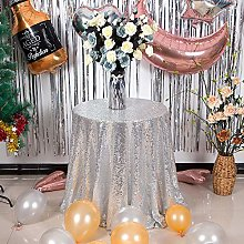YFLZQ Sequin Tablecloth Table Cover Overlay for