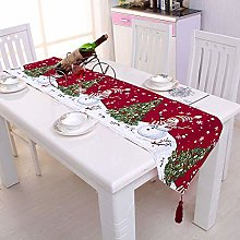 YGB Christmas Embroidered Table Runner Xmas Table