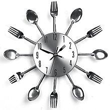 YHANONAL Cutlery Clock Kitchen Fork Knife Creative