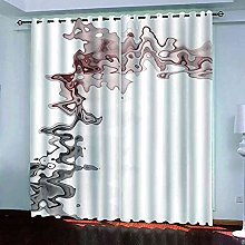 YHIZKD Curtains For Bedroom Abstract Art Pattern
