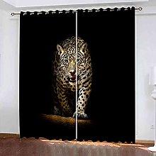 YHIZKD Curtains For Bedroom Animal Leopard Eyelet