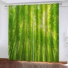 YHIZKD Curtains For Bedroom Bamboo Forest