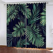 YHIZKD Curtains For Bedroom Green Leaves Eyelet