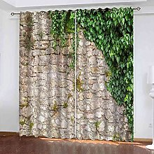 YHIZKD Curtains For Bedroom Green Plants By The