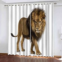 YHIZKD Curtains For Bedroom Simple Lion Animal