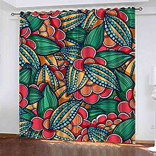YHIZKD Curtains For Living Room - Abstract Plant