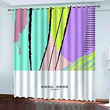 YHIZKD Curtains For Living Room - Abstract Purple