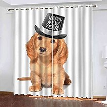 YHIZKD Curtains For Living Room - Animal Dog