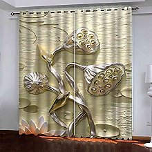 YHIZKD Curtains For Living Room - Artistic Lotus