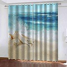 YHIZKD Curtains For Living Room - Beach Starfish