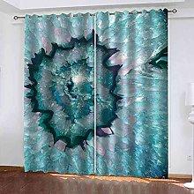 YHIZKD Curtains For Living Room - Blue Glacier