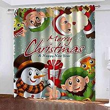 YHIZKD Curtains For Living Room - Cartoon Santa