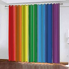 YHIZKD Curtains For Living Room - Color Rainbow