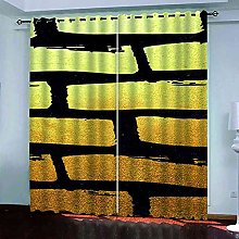 YHIZKD Curtains For Living Room - Creative Black