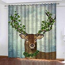 YHIZKD Curtains For Living Room - Elk Animal Print