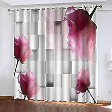 YHIZKD Curtains For Living Room - Geometric Pink