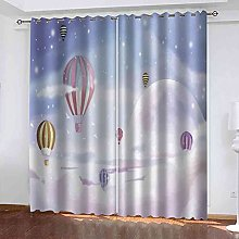 YHIZKD Curtains For Living Room - Hot Air Balloon