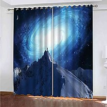 YHIZKD Curtains For Living Room - Planet Snow