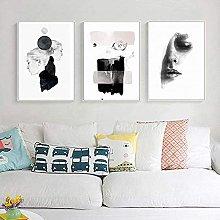 YHJK HD Printing Nordic Abstract Black White