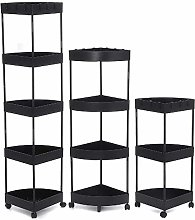 Yhjkvl Storage Trolley Cart 3/4/5 Tier Home