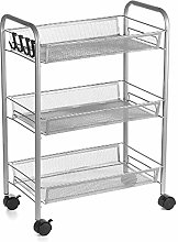 Yhjkvl Storage Trolley Cart 3/4 Tiers Trolley Cart
