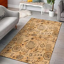 YHML Pattern Print World Map Area Rug/Large / 5ft