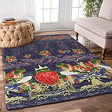 YHML Strawberry Rug/Large / 5ft x 8ft (60 inch x