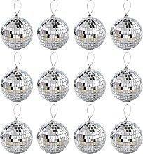 YHNJI 12Pcs Disco Light Mirror Ball, 2.4In Disco